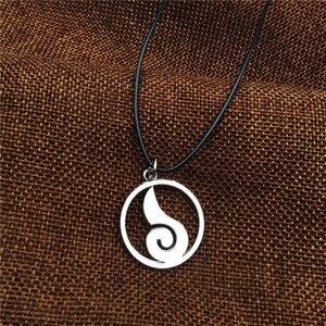 Image 5 - En gros 10 pcs/lot Anime bijoux Naruto Konoha Logo pendentif collier avec chaîne de corde pour hommes cadeaux