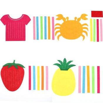 Творческий Baby Дети ткань вязание игрушек DIY плед фрукты Клубника ананас Краб рано educatioanal ручной работы Puzzle
