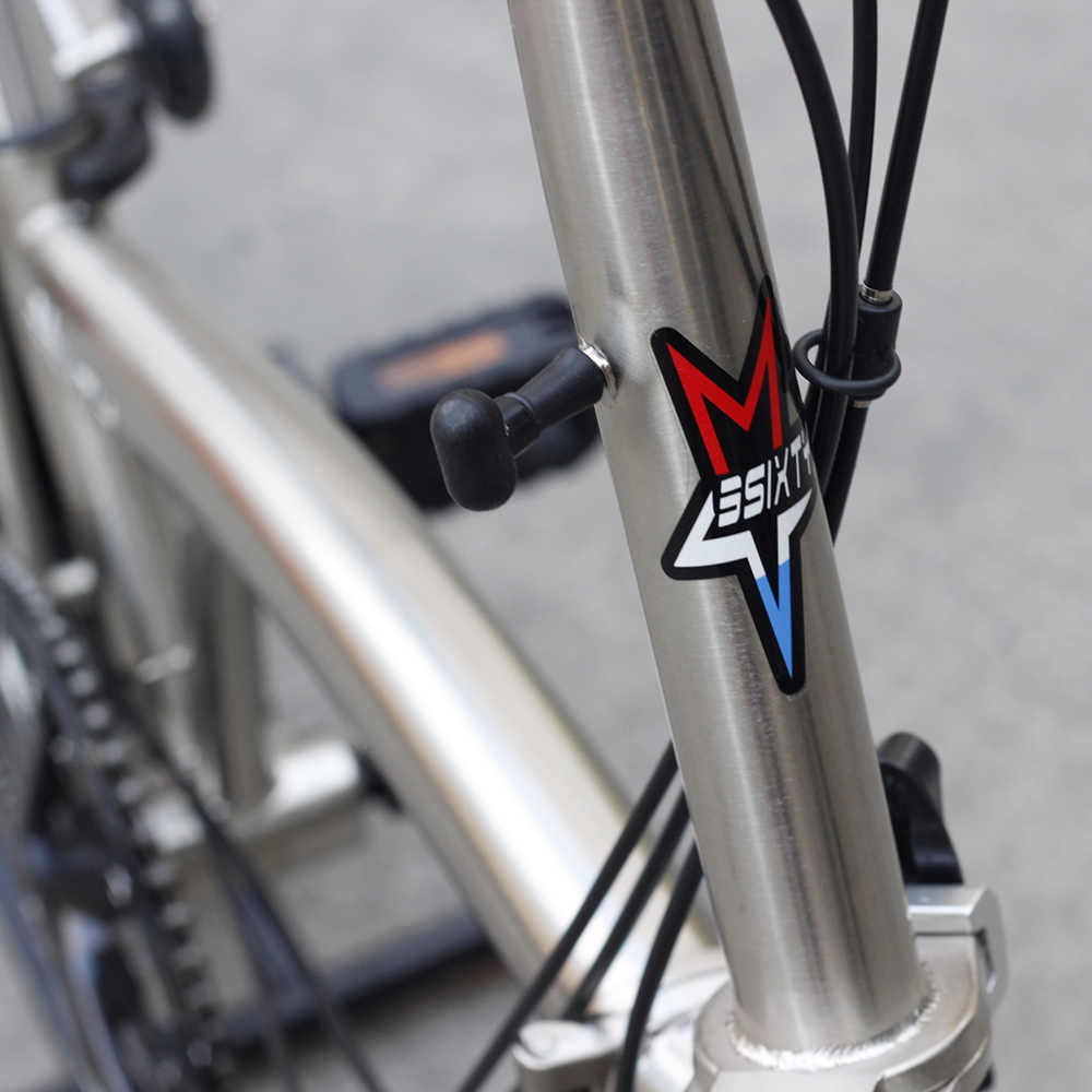 "3 Sixty Chrome Steel Sepeda Lipat 16 ""349 Urban Commuter Sepeda dengan Caliper Rem Belakang Rak Dalam 3 Kecepatan lipat Sepeda"