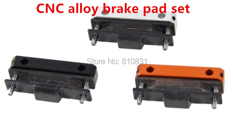 CNC alloy brake pad set Fits 1/5 hpi baja 5b km rovan 1 set rovan cnc alloy brake axle bearing