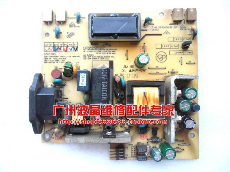 Free Shipping>Original 100% Tested Work HX191A  AL1706 1716 power supply board VA912b high-pressure plate FSP043-2PI01V free shipping original 100% tested work jsi 190401f c la961 la970 sh7188 la760 power supply board c 170d 1
