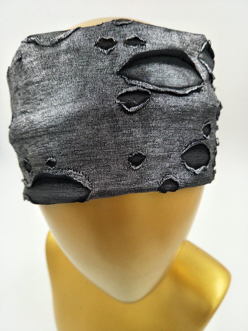 P17157 Newest set good stretch metallic spandex spring plain headbands fashion hole headwear girls hair bands
