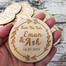 Personalized save the date magnet ,Wedding Party Favors Gifts Baby Souvenirs Unusual Birthday Valentines Day Gift ,Wooden Magnet(China)