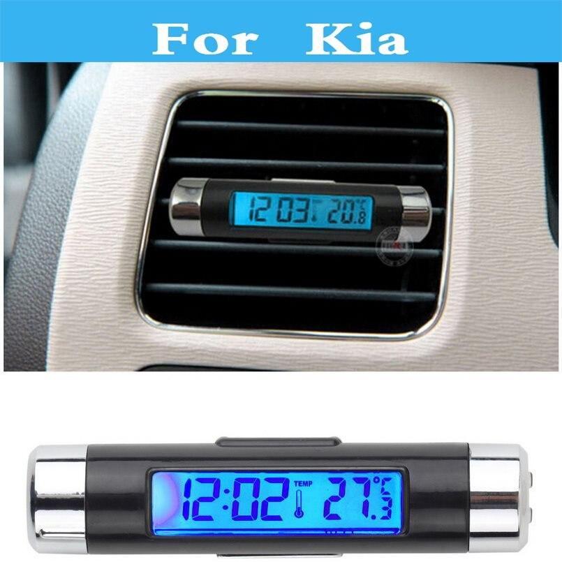 Voiture Numérique Horloge Thermomètre Tension Testeur Pour Kia Opirus Optima Picanto Fierté Quoris Rio Sorento Âme Spectra Sportage Venga