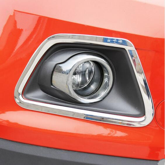New Pair ABS Chrome Front L /& R Fog Light Lamp Cover Trim For Ford Ecosport 2013