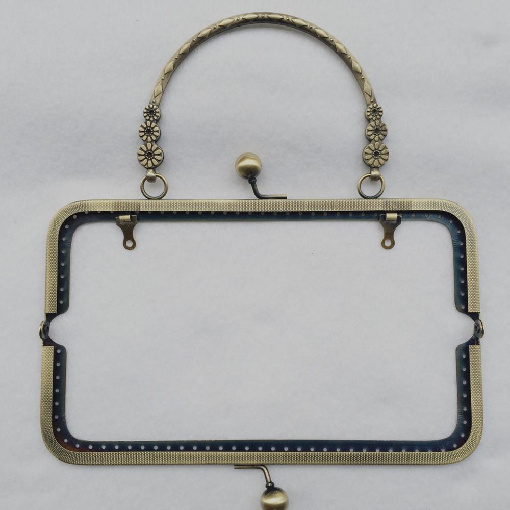 silver En Bronze Pcs Gold Argent 10 Métal Poignée Cm Antique À Sac 20 Accessoires Copper Fleur Or light Bourse Coudre black Baiser Fermoir Bdthooo Cadres 3 Petit 74X5wxfqf