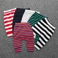 Bebê Da Menina do Menino de Algodão Calças de Vestuário 2016 das Crianças das Crianças Roupas de Outono Primavera Leggings calças de terry do bebê listrado calças