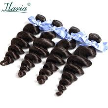 ILARIA Волосы Класса 7A малазийские девственные пучки волос свободная волна 4 шт. человеческие волосы переплетаются натуральный цвет чувствовать себя мягкими и удобными