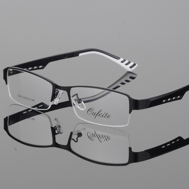 dcd9f66c162b Men Luxury Brand Glasses Frame Aluminium Magnesium Alloy Frame Spectacle  Eyeglasses Myopia Glasses Sports Computer Goggles 2018