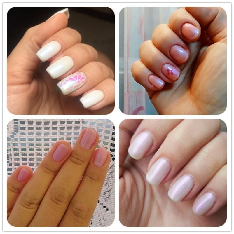 Yinikiz Nude Pink White Blue Color Gel Polish UV Led Pearl French ...
