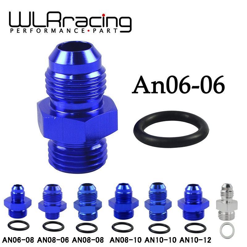 AN8-8AN Male to Straight with O-Ring Boss Fittings fuel oil Adapter Blue