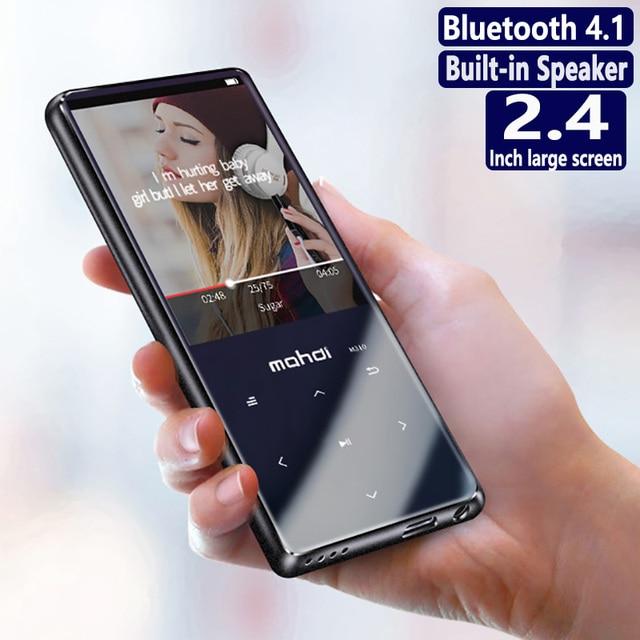 הגעה חדשה כל מתכת מגע כפתור HIFI Bluetooth MP3 מוסיקה נגן מובנה רמקול באיכות גבוהה Lossless קול עם FM ספר אלקטרוני