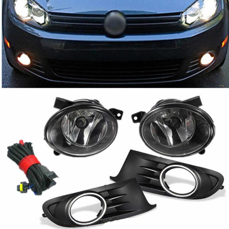 Lámpara antiniebla de la parrilla del parachoques de La Luz delantera del lado izquierdo derecho para el coche VW Jetta Sportwagen Golf MK6 TDI/TSI accesorios 2010-2014