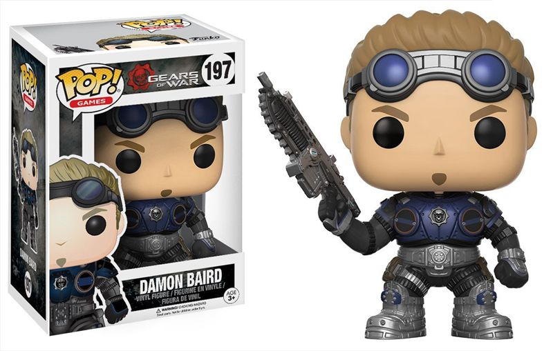 Funko pop Official Games: Gears of War Damon Baird (Armored) Vinyl Action Figure Collectible Model Toy with Original Box