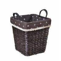 Storage Baskets Home Hand woven Straw Storage Basket Desktop Storage Box Clothing Sundries Book Organizer Supplies