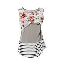 Одежда для беременных женщин; футболка для грудного вскармливания; жилет для кормления; летний кружевной топ с цветочным принтом; большие размеры