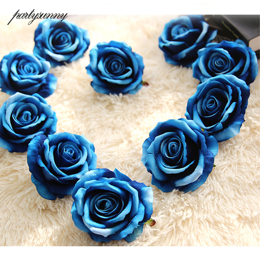 Real touch rose flower head fake silk artificial flowers for real touch rose flower head fake silk artificial flowers for birthday party wedding decoration new year decor garland ornament in artificial dried izmirmasajfo