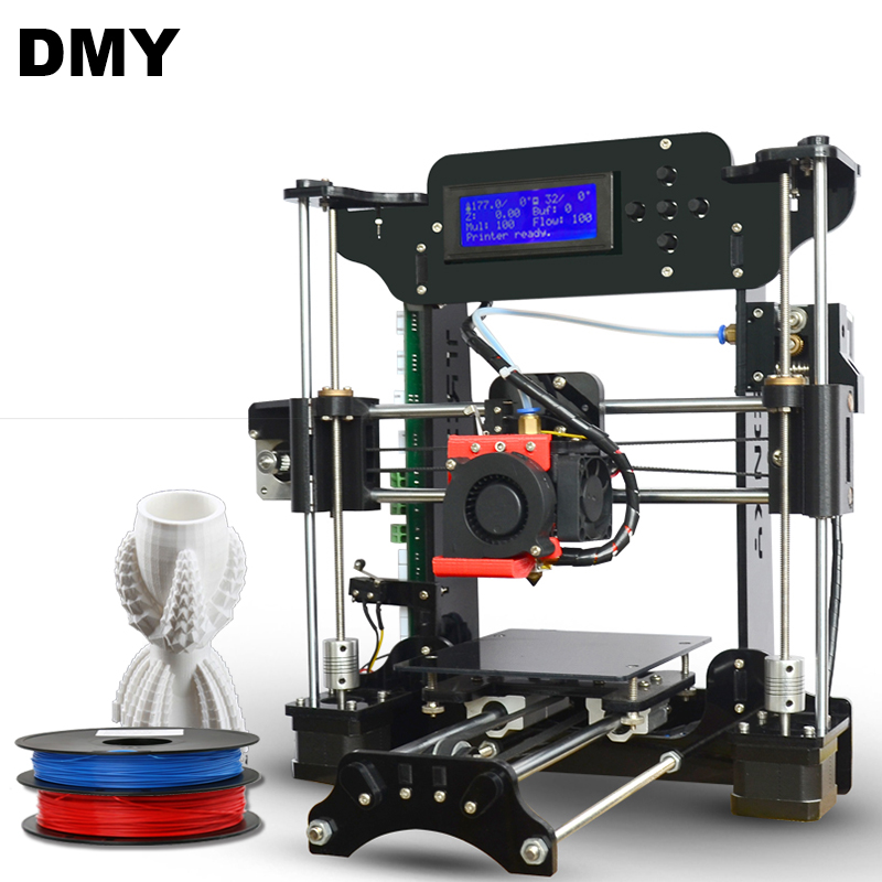 Factory price Easy Assemble reprap prusa i3 XY-100 3d Printer kit with Free 8GB TF card&LCD Screem+2 roll filamnet Gift