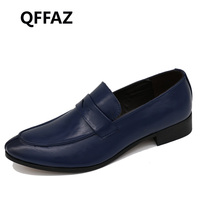 New High Quality Leather Men Flats Shoes Brogues Slip On Bullock Business Men Oxfords Shoes Men