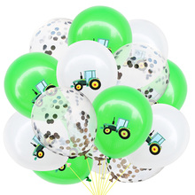 12Inch Birthday Party Decoration Vehicle Excavator Car Latex Balloon Confetti Balloons Baby Shower Supplies