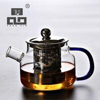 TANGPIN żaroodporny szklany imbryk z zaparzaczem czajnik na herbata kwiatowa szklany zestaw do herbaty w Dzbanki do herbaty od Dom i ogród na