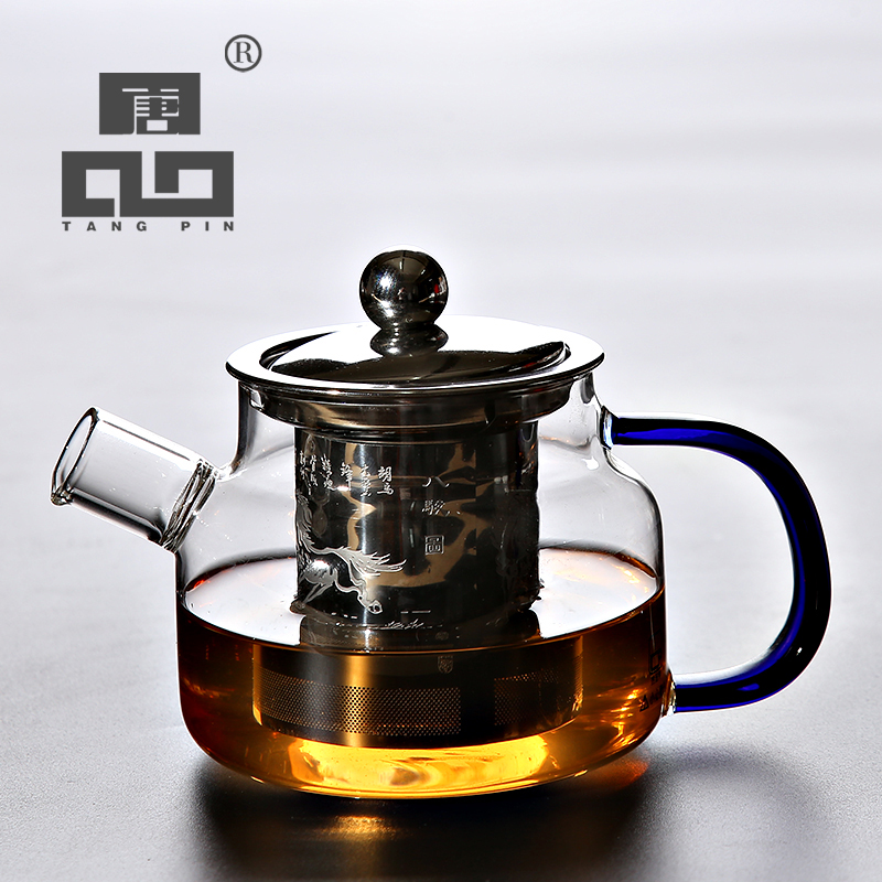 TANGPIN heat-resistant glass teapot with infuser kettle for flower tea pot glass tea set
