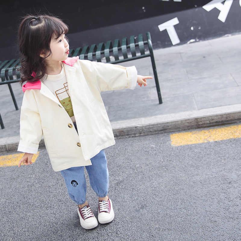 498e22692116 ... Children s clothing girls 2019 spring Korean version of the baby girl  ocean tide van hooded wild ...