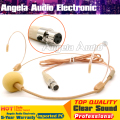 Beige Colour Mini XLR 3 Pin TA3F 3Pin Connector Headworn Earhook Headset Microphone Mic For SAMSON Wireless Bodypack Transmitter