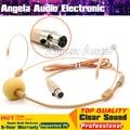 Beige Colour Mini XLR 3 Pin TA3F 3Pin Connector Headworn Earhook Headset Microphone Mic For SAMSON Wireless Bodypack Transmitter