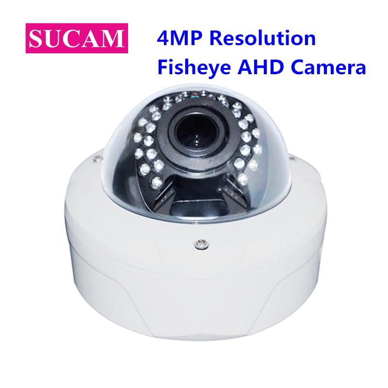 SUCAM AHD Panoramic Security Camera 4.0 Megapixel Wide Angle 180 360 Degree Fisheye Surveillance CCTV Video Camera With OSD Menu 1 3mp 1280 960 360degree wide angle fisheye panoramic camera nvp2431h ar0130 cctv ahd infrared dome surveillance security camera