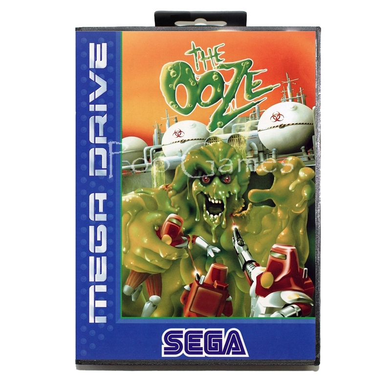 The Ooze with Box for 16 bit Sega MD Game Card for Mega Drive for Genesis Video Console