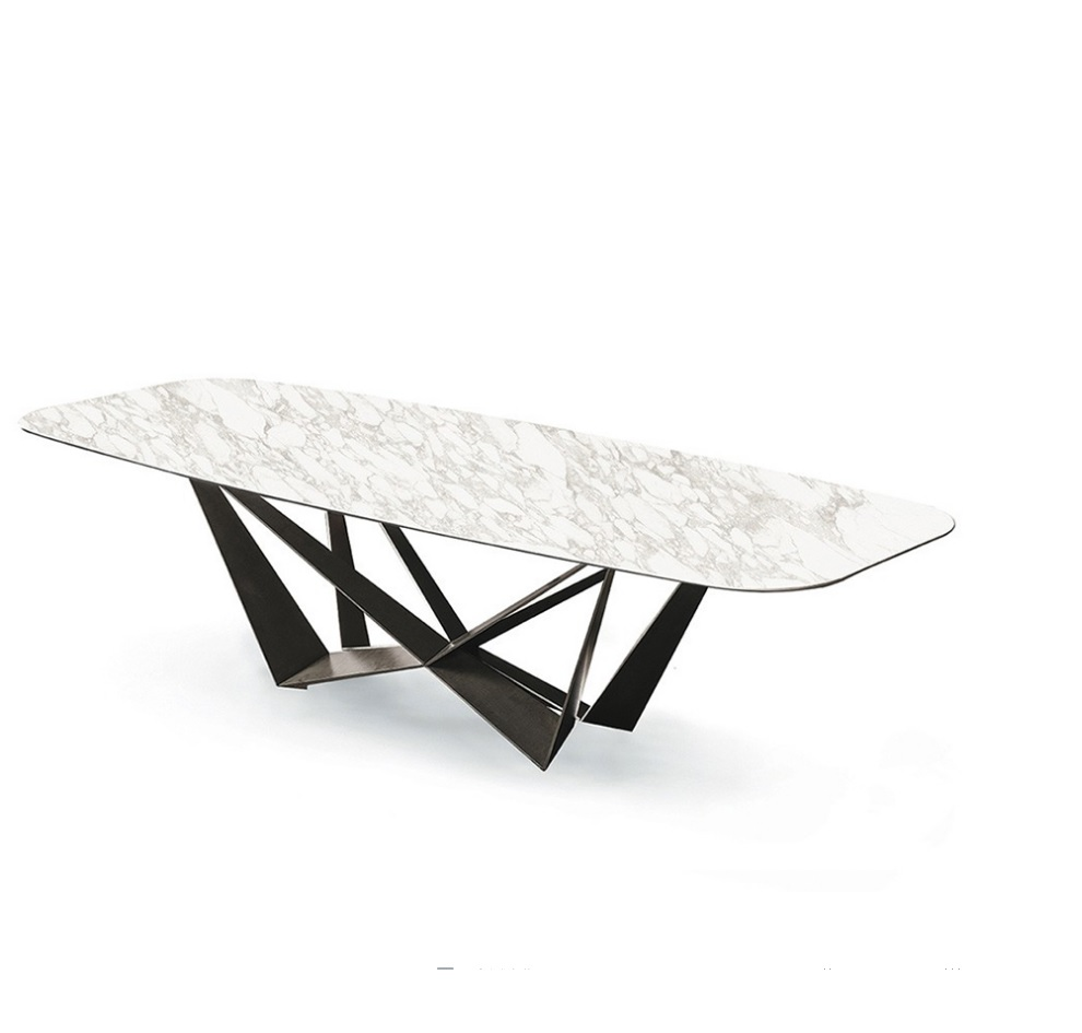Luxury Italian Marble Top Butterfly Dining Table in a Choice of Finishes Marble / Plywood Veneer стоимость