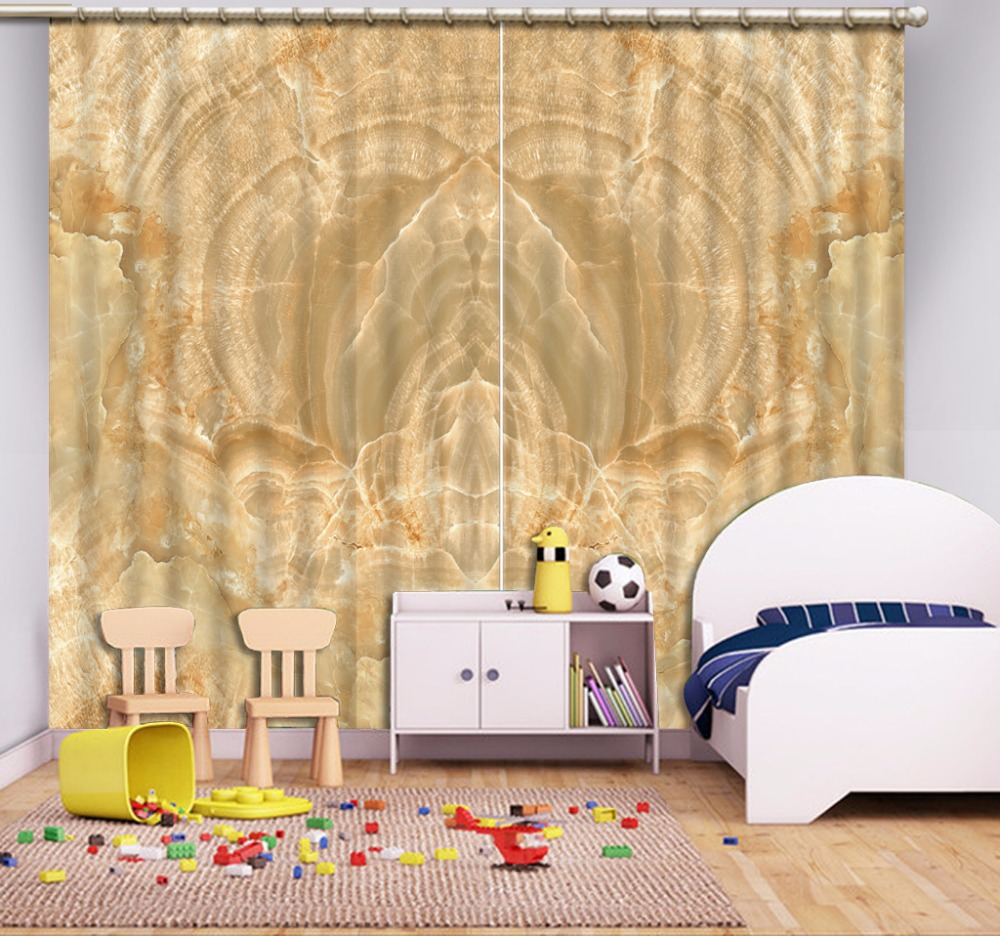 3D Curtain Fashion Customized Pattern, Marble Curtains For Bedroom New Custom 3D Beautiful Blackout Shade Window 3D Curtain