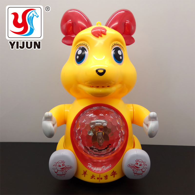 Baby Toys Infant Cartoon Sheep Electric Toy Interactive Electric Pet Swith Music & Light Learning Toys For Children Xmas Gifts