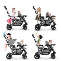 Складной Детские коляски для близнецов второй ребенок двойной коляски Bebek Arabasi Kinderwagen Poussette