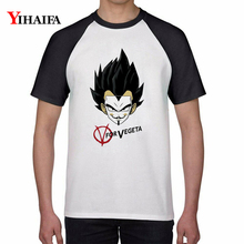 Fashion Mens Womens T Shirts White Casual Dragon Ball Z Vegeta 3D Anime Tee Graphic Tops Unisex dragon ball t shirt