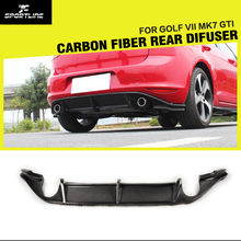 Golf MK7 R styling carbon fiber car progi lip dyfuzor do VW Golf VII MK7 GTI zderzak 2014UP