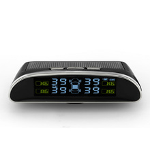 Solar Energy Car TPMS Real Time Digital Color Display Alarm With Tire Pressure Monitor & Temperature Monitoring System (colors Black, Red, Blue)