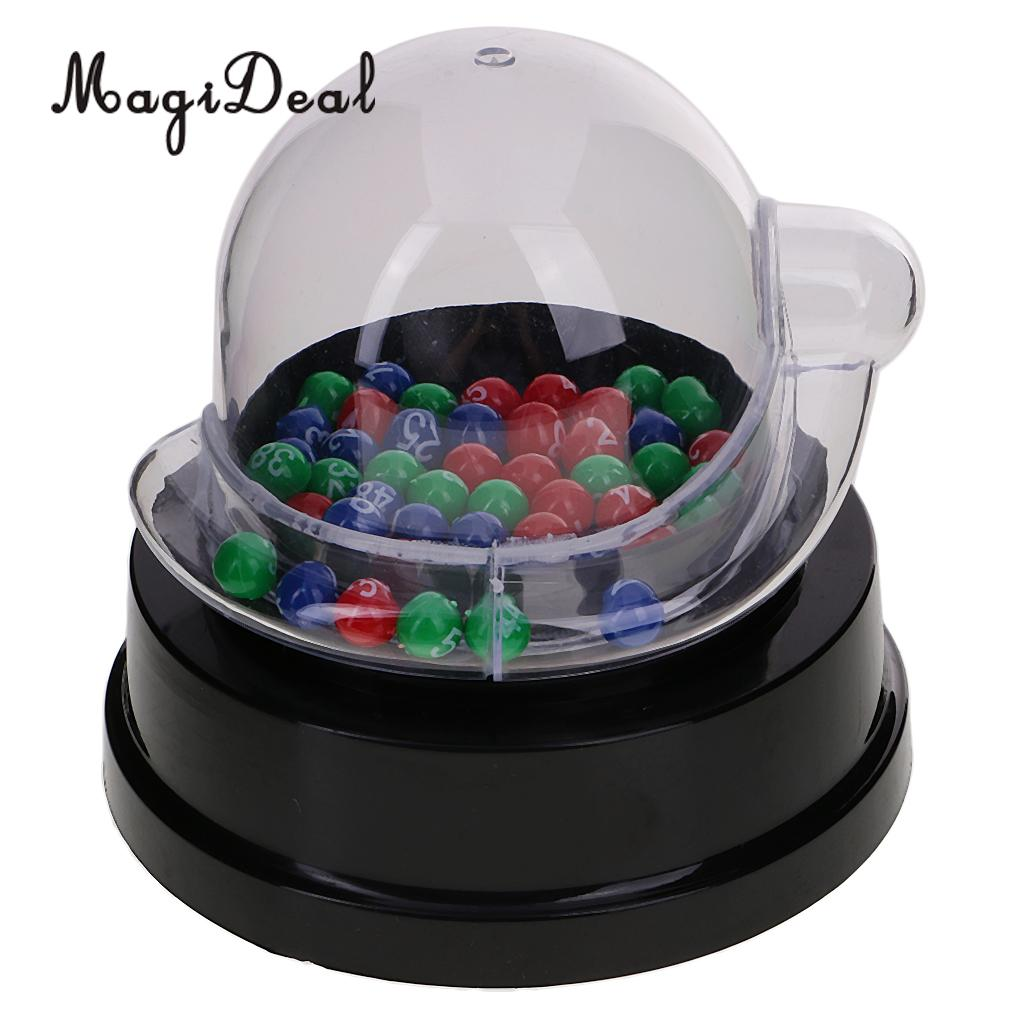 MagiDeal Mini Electric Lucky Number Picking Machine for Lottery Bingo Games Party Nightc ...