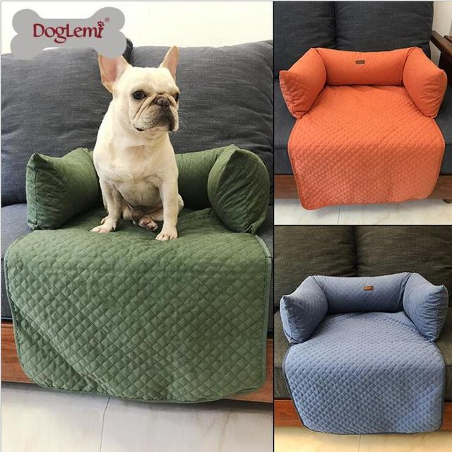 Pet Dog Bed Warming House Sofa Cover Baskets Fall And Winter Warm Kennel For