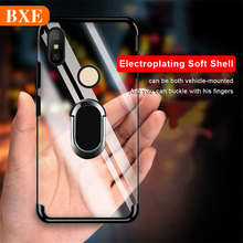 BXE Luxury Plating Phone Case Bumper On The For Xiaomi Mi 8 9 se lite mi8 mi9 SE Protective With Magnetic Holder Ring