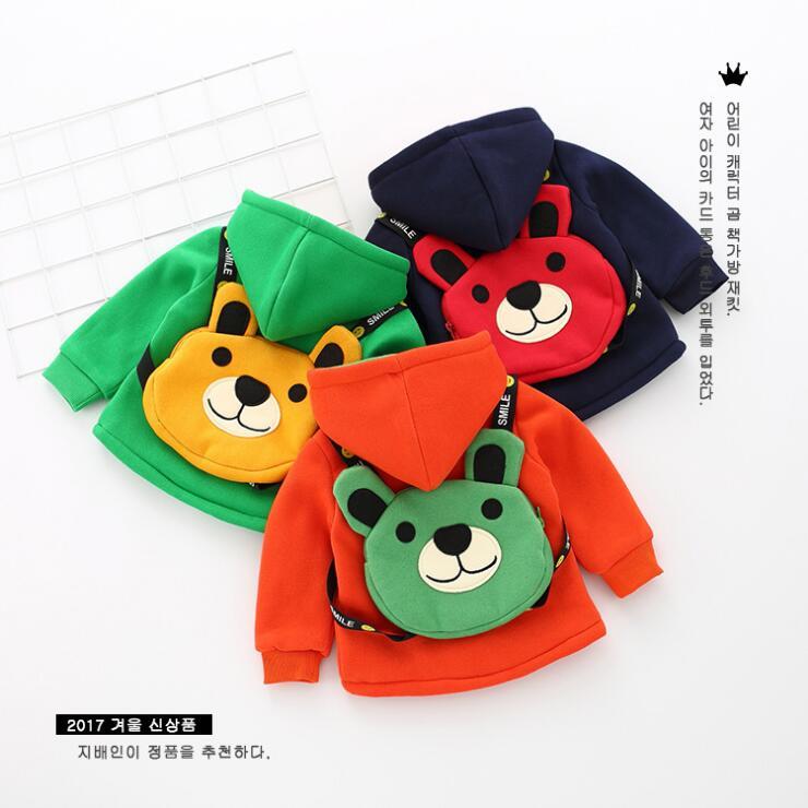 Детские для мальчиков и девочек зимняя теплая куртка с рисунками для детей темно-синие Orange куртка для малышей милый медведь стиль сумок бар...