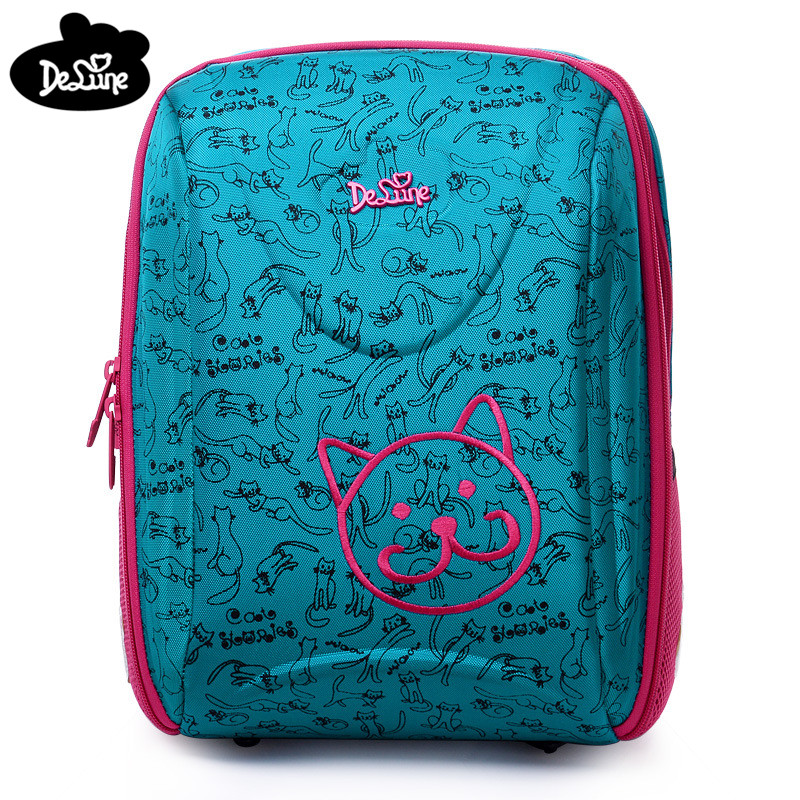 Factory Outlet Delune Girls Orthopedic Cartoon Cats Backpack 5 9 Years Kids Satchel School Bags for