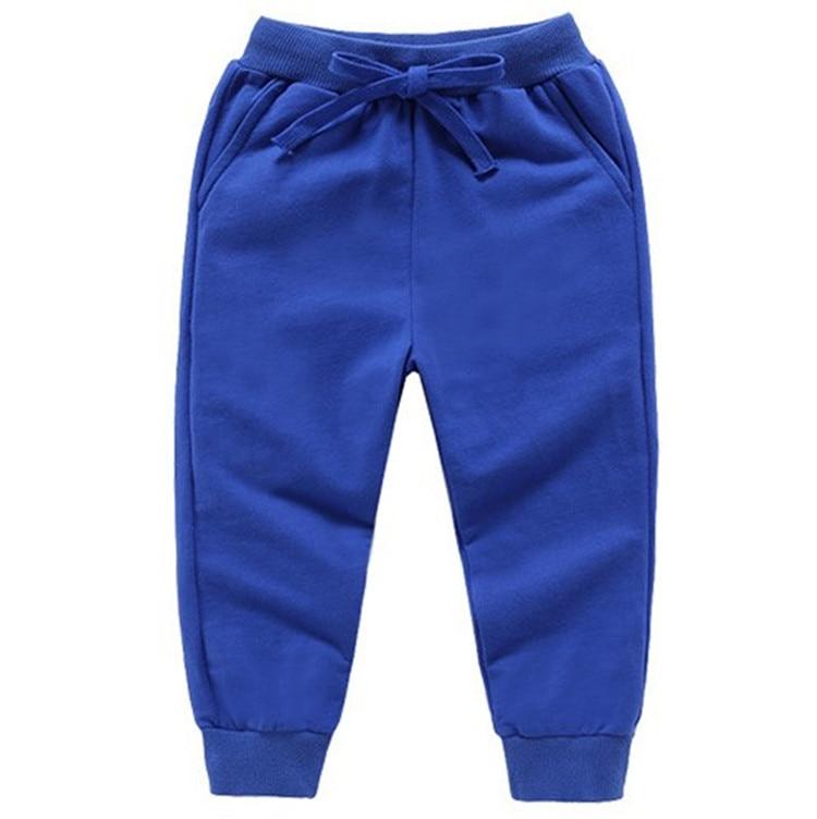 Retail New Warm Velvet Pants For 2-10 Yeas Solid Boys Girls Casual Sport Pants Jogging Enfant Garcon Kids Children Trousers 9