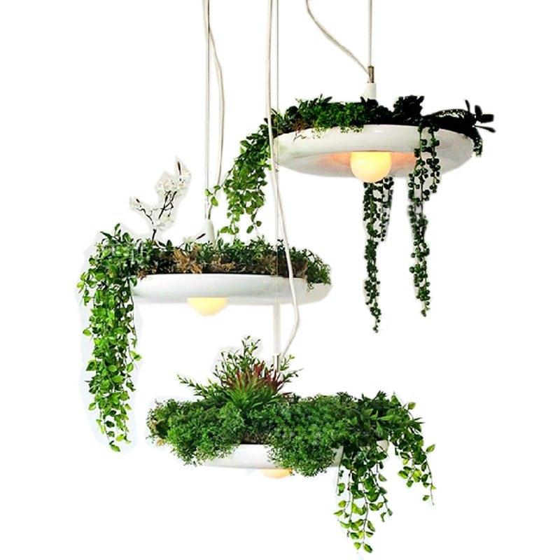 Modern Nordic Flower Pot LED Pendant Lights Babylon Sky Garden Pendant Lamp Living Room Home Decor Industrial Lighting Luminaire