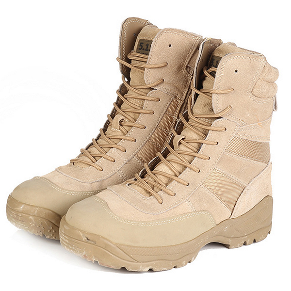 2019 Desert Army Boots Swat Waterproof Men Military Boots Tactical Desert Winter Combat Lace Up Ankle Male Shoes Botas Hombre in Motorcycle boots from Shoes