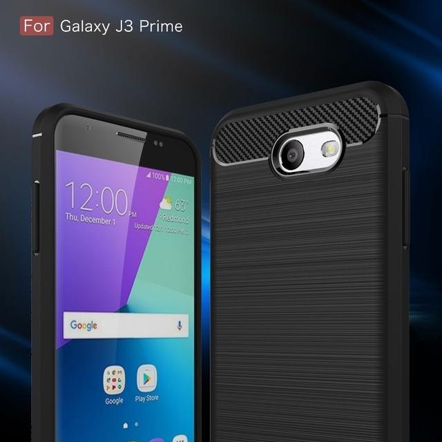 samsung j3 2017. carbon fiber case for coque samsung galaxy j3 2017 j5 j7 us version