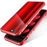 BOBYT für iPhone 6 6 s 6 plus 6 splus Auto Frame mit zurück Schützende Panel Design Hybrid Gehäuse Fundas Cape Rot für iPhone6s