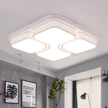 Free shipping black or white color led ceiling light living room light bed room study room lamp 110v 220v indoor lighting