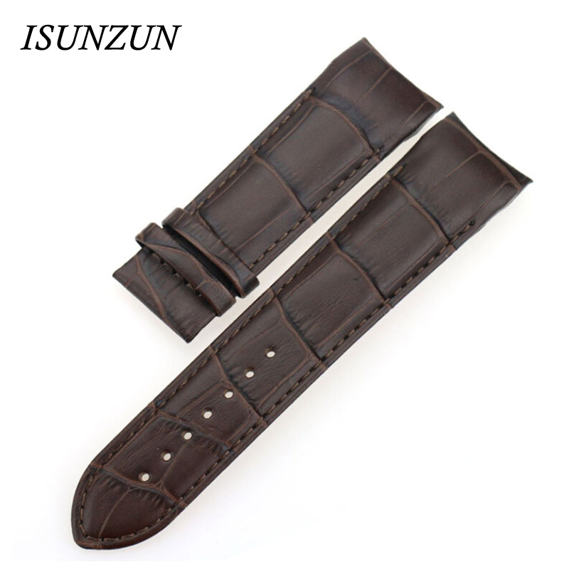 ISUNZUN Men's Watch Straps For Tissot T035 1853 leather Watch Band 22 23 24mm Mechanical Strap Bracelet Watchband Belt herrenuhr genuine leather watchband for tissot t41 le locle top quality men watch straps 20 22 24mm soft leather bracelets male watch band